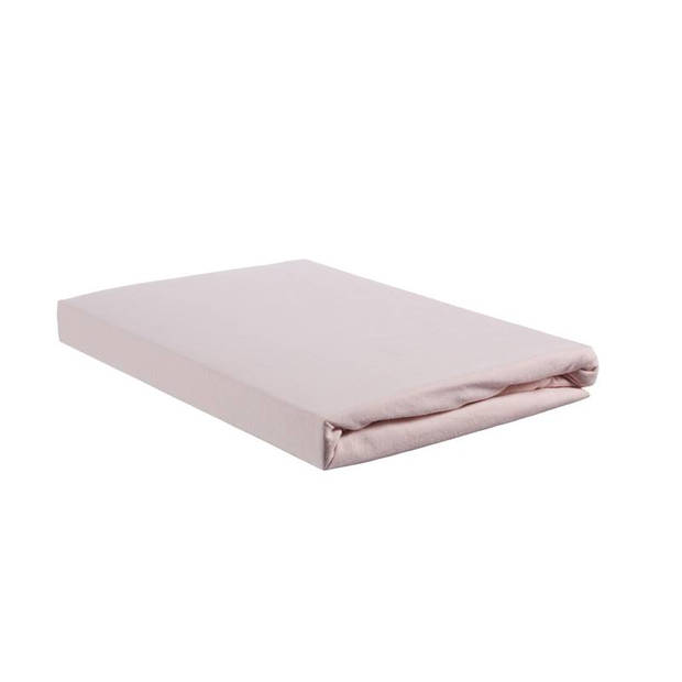 Beddinghouse jersey split-topper hoeslaken - 100% gebreide jersey katoen - Lits-jumeaux (160x200/220 cm) - Soft Pink