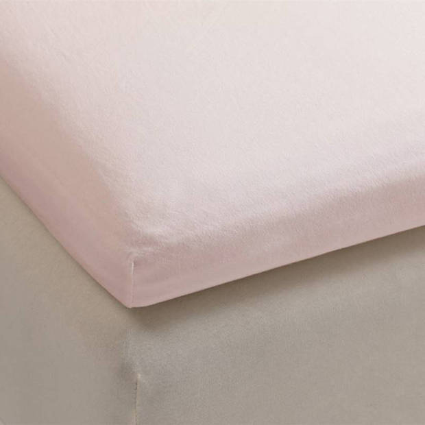 Beddinghouse jersey topper hoeslaken - 100% gebreide jersey katoen - Lits-jumeaux (180x200/220 cm) - Soft Pink