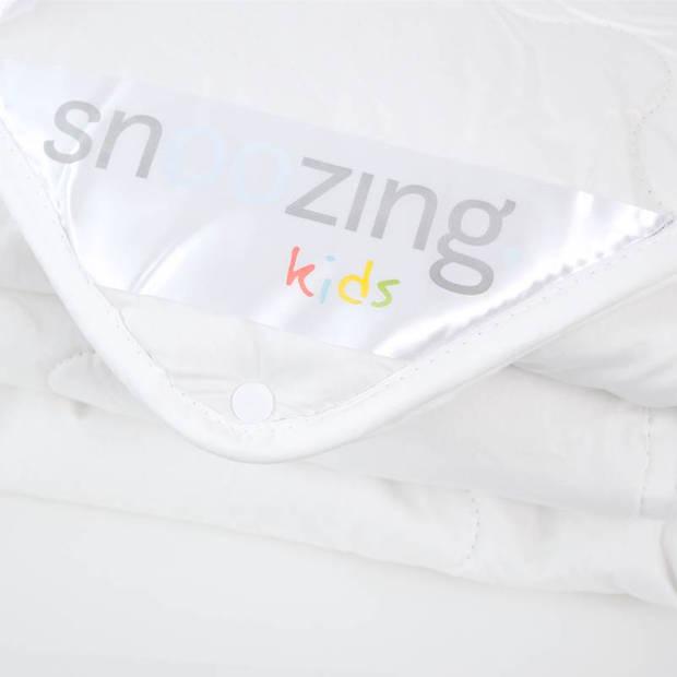 Snoozing Rhodos - Katoen - 4-seizoenen kinderdekbed - Ledikant - 100x135 cm - Wit