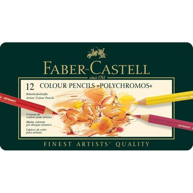 kleurpotlood Faber-Castell Polychromos etui à 12 stuks