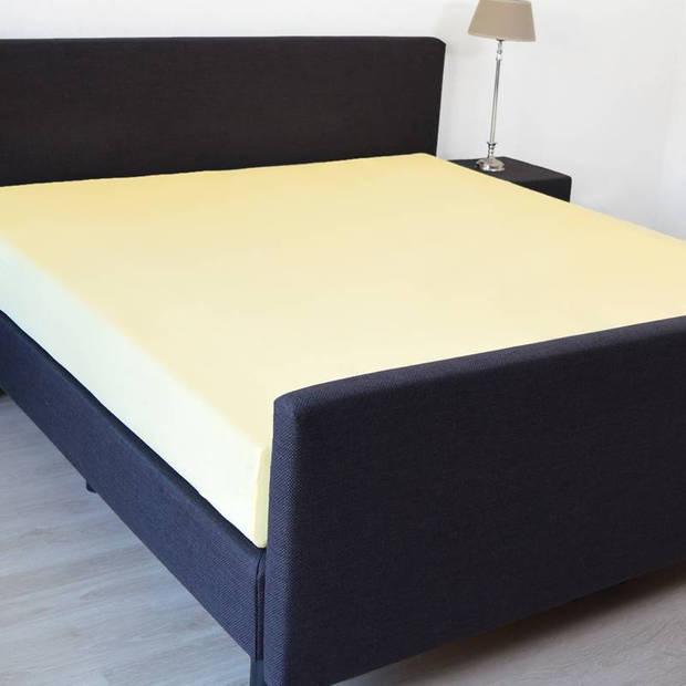 Snoozing - Hoeslaken -180x210 - Percale katoen - Geel