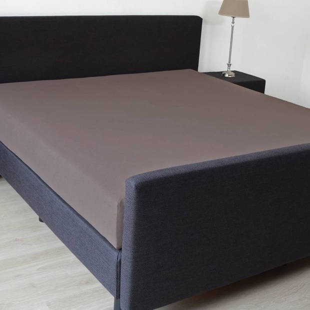 Snoozing - Hoeslaken -160x220 - Percale katoen - Bruin