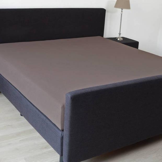 Snoozing - Hoeslaken -160x200 - Percale katoen - Bruin