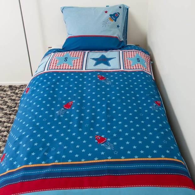 Lief! Boy dekbedovertrek - Katoen - Peuter (120x150 cm + 1 sloop) - Blauw