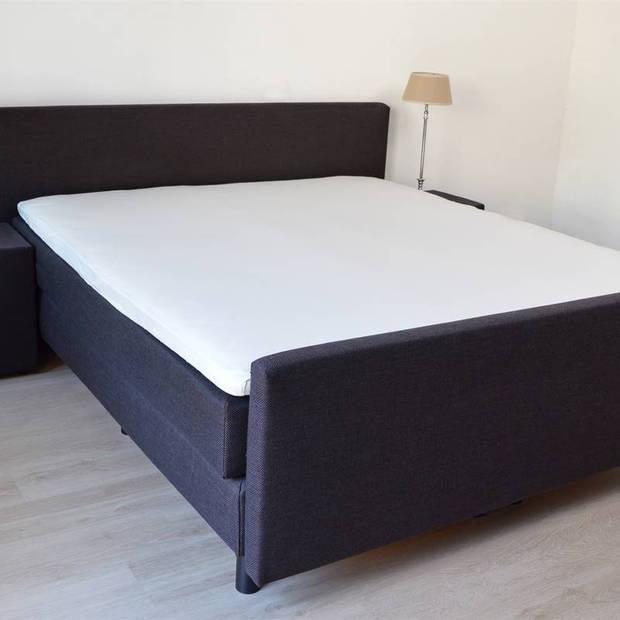 Snoozing - Topper - Hoeslaken - 160x220 cm - Percale katoen - Ivoor