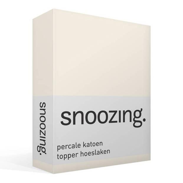 Snoozing - Topper - Hoeslaken - 80x220 cm - Percale katoen - Geel