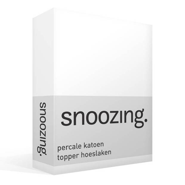 Snoozing - Topper - Hoeslaken - 160x210 cm - Percale katoen - Wit