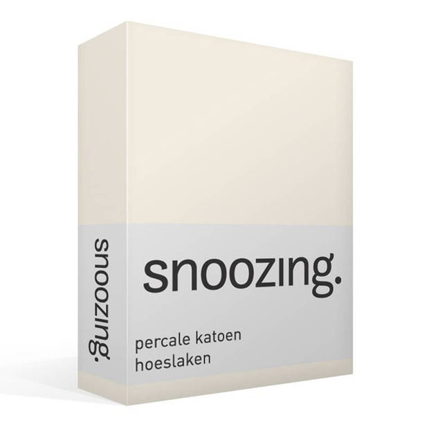 Snoozing - Hoeslaken -200x200 - Percale katoen - Ivoor