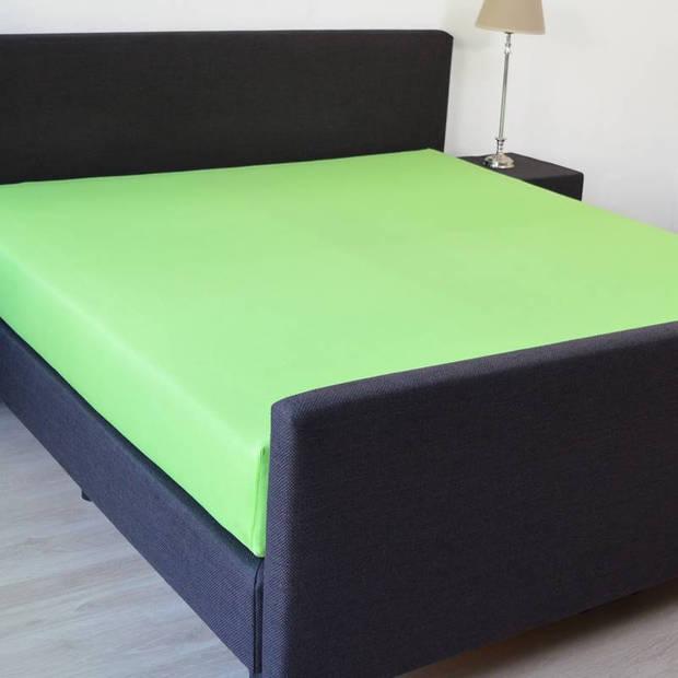 Snoozing - Hoeslaken - Percale katoen - Extra Hoog - 160x200 - Lime