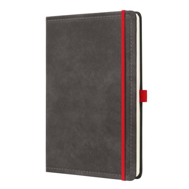 notitieboek Conceptum 194blz hard Vintage Dark Grey A4 gelinieerd