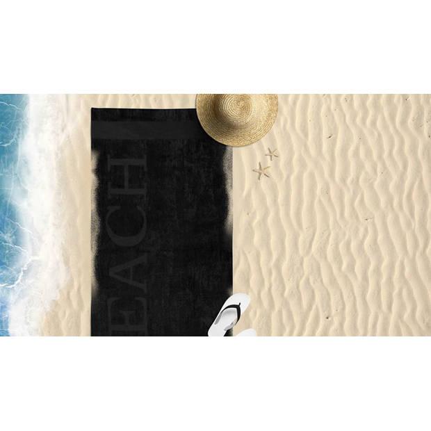 Lucca - Beach - Strandlaken - 100x200 - Zwart