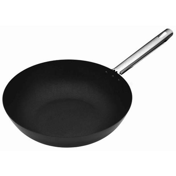 Carbonstalen wok, 30 cm - Masterclass Professional