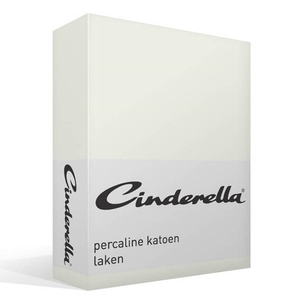 Cinderella Basic percaline katoen laken - 100% percaline katoen - 2-persoons (200x260 cm) - Off-White