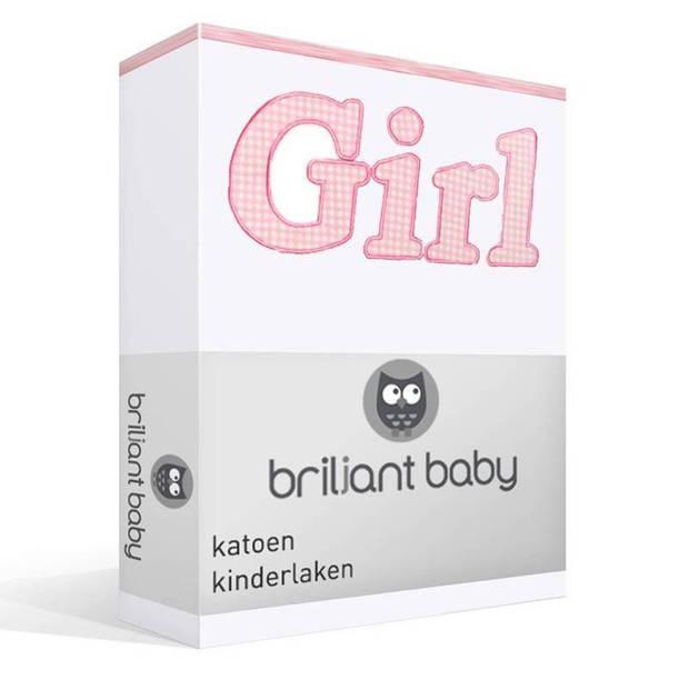 Briljant Baby Girl katoen kinderlaken - Ledikant (100x150 cm)