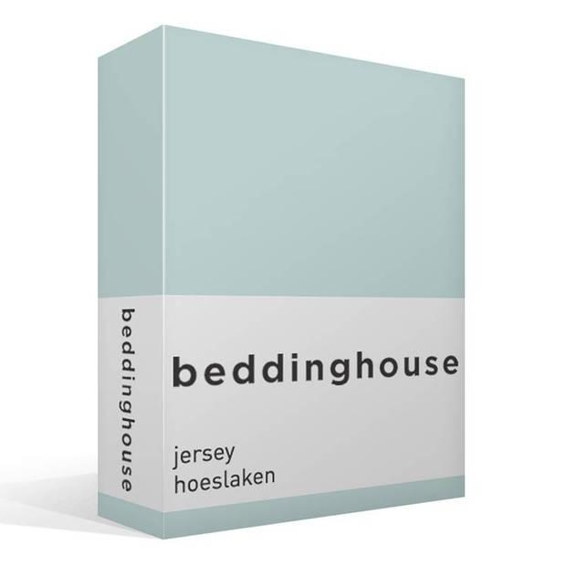 Beddinghouse jersey hoeslaken - 100% gebreide jersey katoen - Lits-jumeaux (180x200/220 cm) - Mint Green