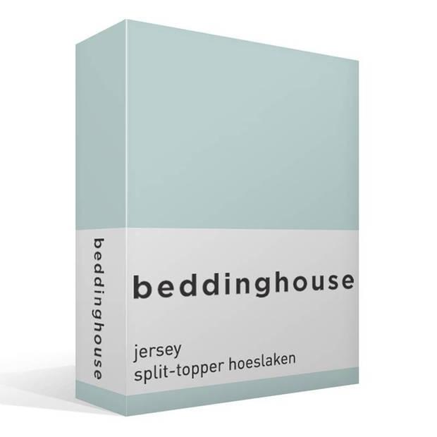 Beddinghouse jersey split-topper hoeslaken - 100% gebreide jersey katoen - Lits-jumeaux (180x200/220 cm) - Mint Green