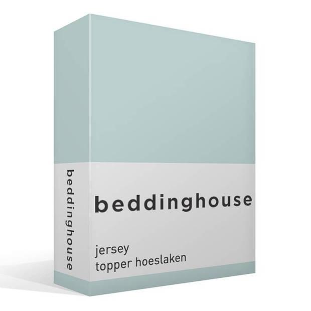 Beddinghouse jersey topper hoeslaken - 100% gebreide jersey katoen - Lits-jumeaux (180x200/220 cm) - Mint Green