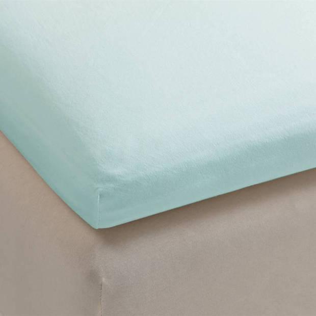 Beddinghouse jersey topper hoeslaken - 100% gebreide jersey katoen - Lits-jumeaux (160x200/220 cm) - Mint Green