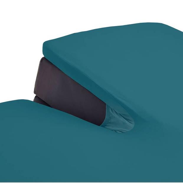 Beddinghouse jersey split-topper hoeslaken - 100% gebreide jersey katoen - Lits-jumeaux (160x200/220 cm) - Sea Green