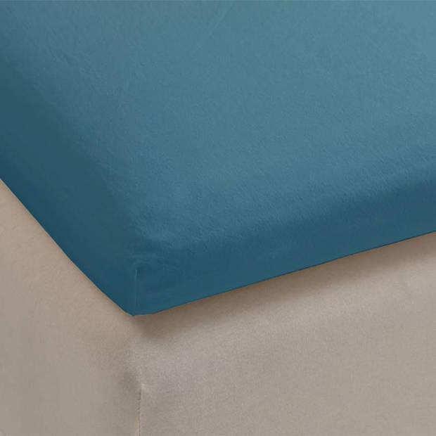 Beddinghouse jersey topper hoeslaken - 100% gebreide jersey katoen - Lits-jumeaux (180x200/220 cm) - Sea Green