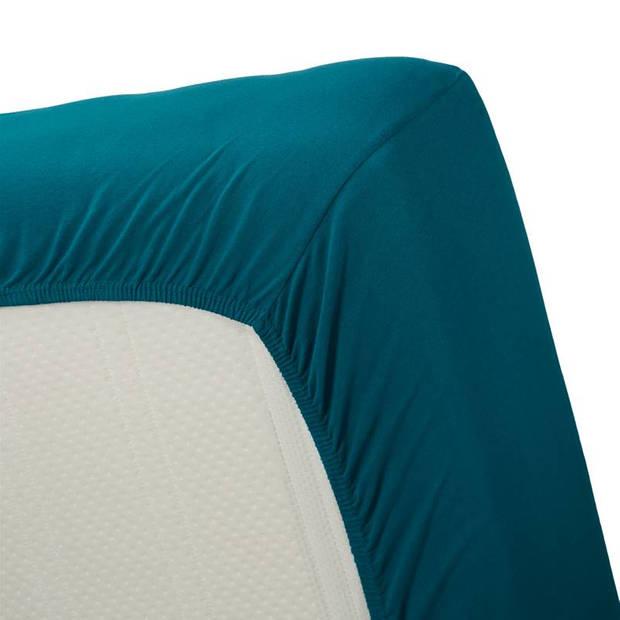 Beddinghouse jersey hoeslaken - 100% gebreide jersey katoen - Lits-jumeaux (180x200/220 cm) - Sea Green