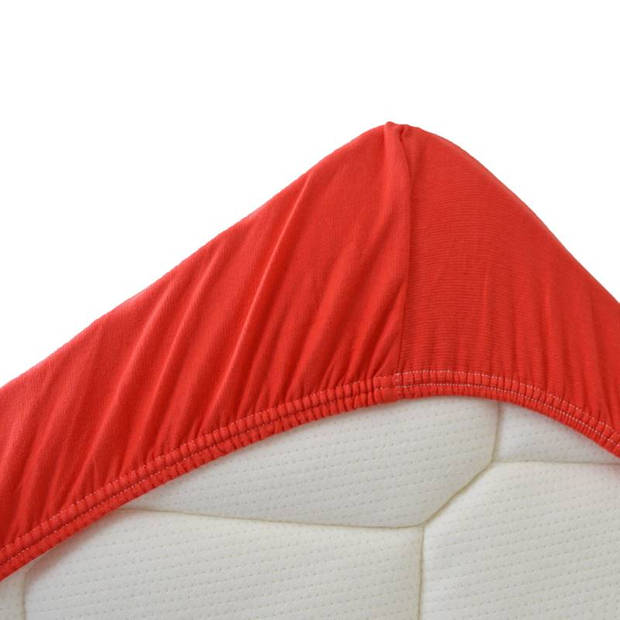 Snoozing Jersey Stretch - Hoeslaken - 160/180x200/220/210 - Rood