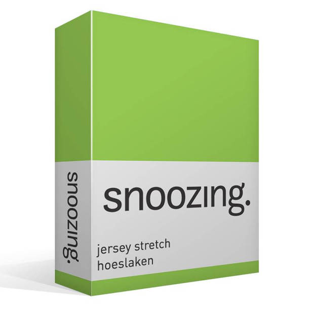 Snoozing Jersey Stretch - Hoeslaken - 200x200/220/210 - Lime