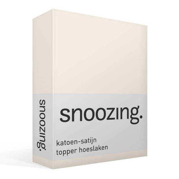 Snoozing - Katoen-satijn - Topper - Hoeslaken - 160x200 - Ivoor