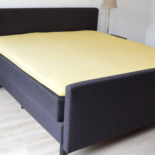 Snoozing Stretch - Topper - Hoeslaken - 200x200/220/210 - Geel
