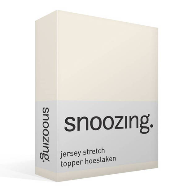 Snoozing Stretch - Topper - Hoeslaken - 200x200/220/210 - Ivoor