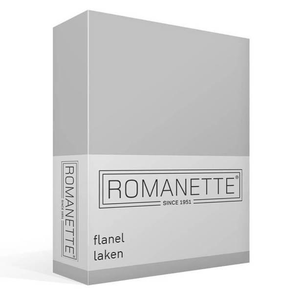 Romanette flanel laken - 100% geruwde flanel-katoen - Lits-jumeaux (240x260 cm) - Off-White