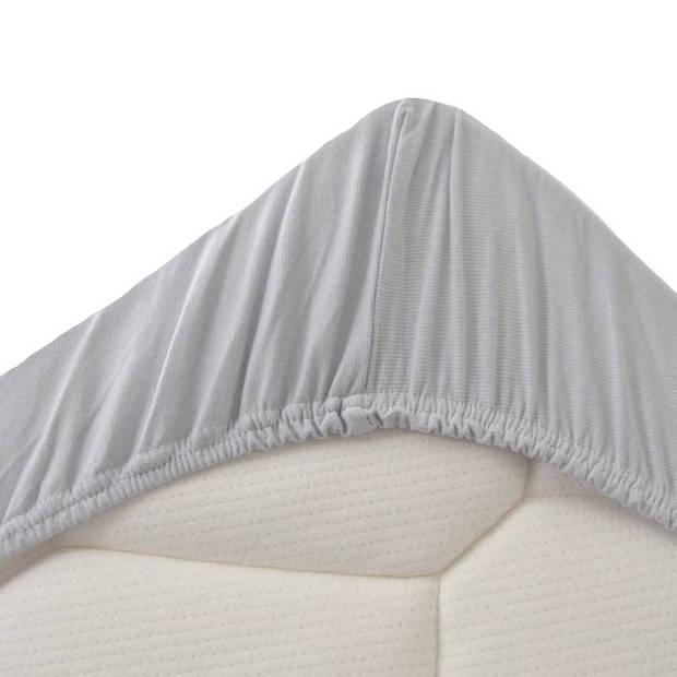 Snoozing Jersey Stretch - Hoeslaken - 160/180x200/220/210 - Grijs