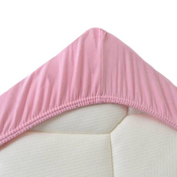 Snoozing Jersey Stretch - Hoeslaken - 160/180x200/220/210 - Roze