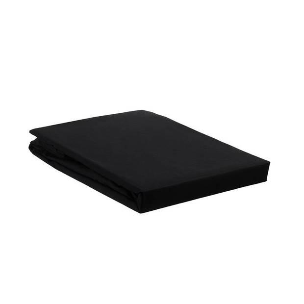 Beddinghouse percale katoen split-topper hoeslaken - 100% percale katoen - Lits-jumeaux (160x210/220 cm) - Black