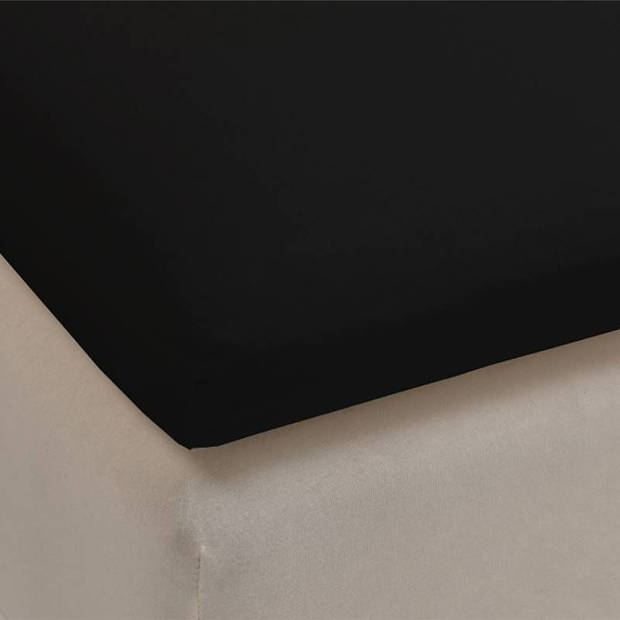 Beddinghouse percale katoen topper hoeslaken - 100% percale katoen - Lits-jumeaux (180x200 cm) - Black