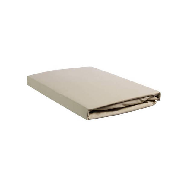 Beddinghouse percale katoen hoeslaken - 100% percale katoen - Lits-jumeaux (160x210/220 cm) - Sand