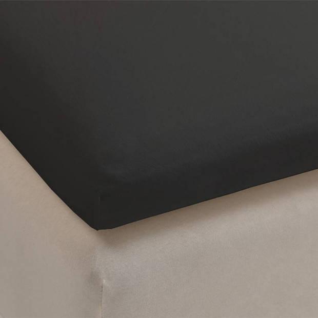 Beddinghouse percale katoen topper hoeslaken - 100% percale katoen - Lits-jumeaux (180x200 cm) - Anthracite