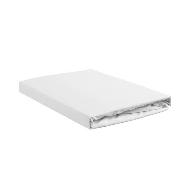 Beddinghouse percale katoen split-topper hoeslaken - 100% percale katoen - Lits-jumeaux (180x200 cm) - White