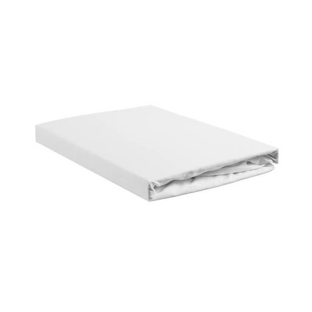 Beddinghouse percale katoen topper hoeslaken - 100% percale katoen - Lits-jumeaux (180x200 cm) - White