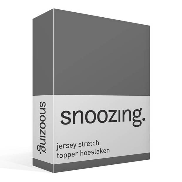 Snoozing Stretch - Topper - Hoeslaken - 200x200/220/210 - Antraciet