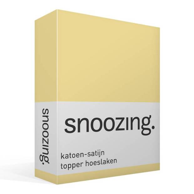 Snoozing - Katoen-satijn - Topper - Hoeslaken - 180x210 - Geel