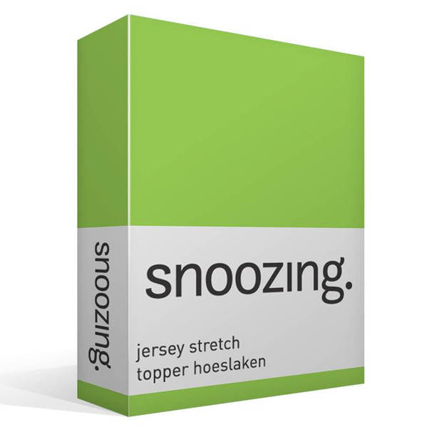 Snoozing Stretch - Topper - Hoeslaken - 160/180x200/220/210 - Lime