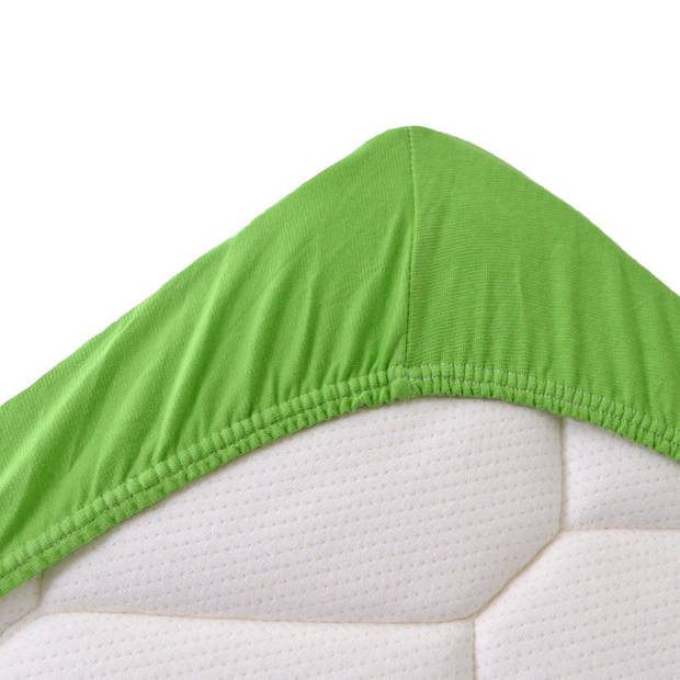 Snoozing Stretch - Topper - Hoeslaken - 200x200/220/210 - Lime