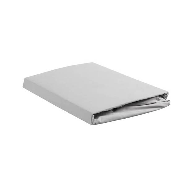 Beddinghouse percale katoen hoeslaken - 100% percale katoen - Lits-jumeaux (180x200 cm) - Light grey