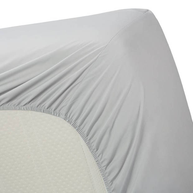 Beddinghouse percale katoen hoeslaken - 100% percale katoen - Lits-jumeaux (160x200 cm) - Light grey