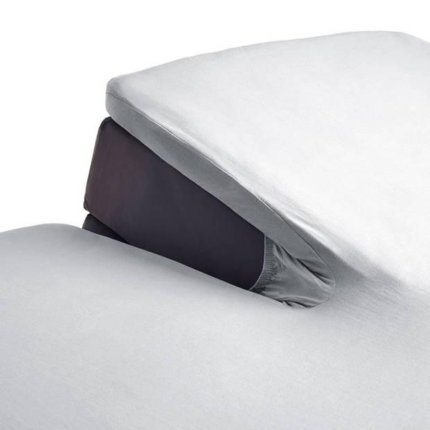 Beddinghouse percale katoen split-topper hoeslaken - 100% percale katoen - Lits-jumeaux (160x200 cm) - Light grey