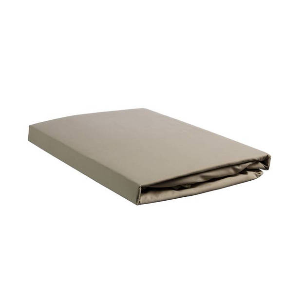 Beddinghouse percale katoen topper hoeslaken - 100% percale katoen - Lits-jumeaux (180x200 cm) - Taupe