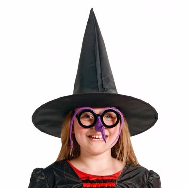 Halloween - 8 hoge heksenhoed voor kinderen - Verkleedhoofddeksels