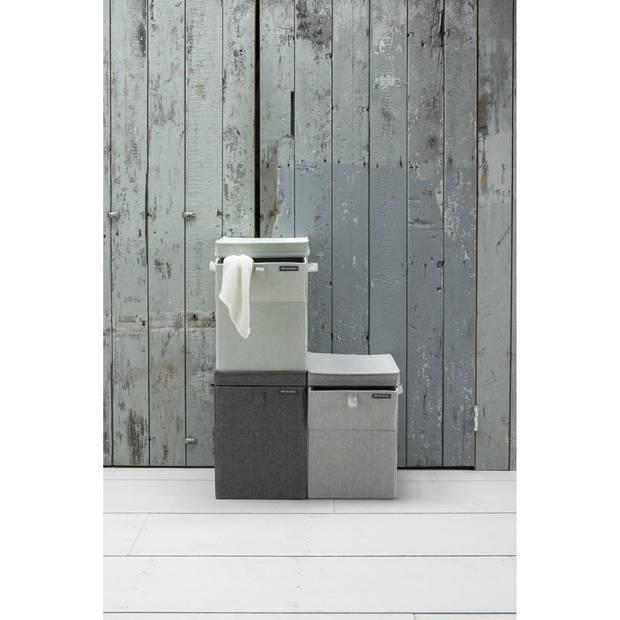Brabantia wasbox - stapelbaar - 35 liter - grey