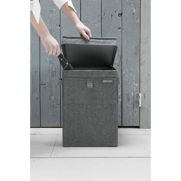 Brabantia wasbox - stapelbaar - 35 liter - pepper black